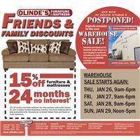 Olinde's Warehouse Sale Postponed