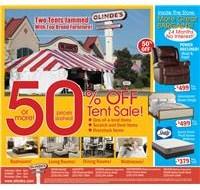 Olinde's Tent Sale Ad