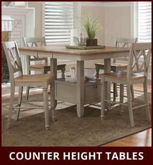 Counter Height Tables available from Dinette Depot