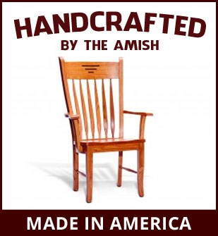 Handcrafted Amish furniture available at Dinette Depot