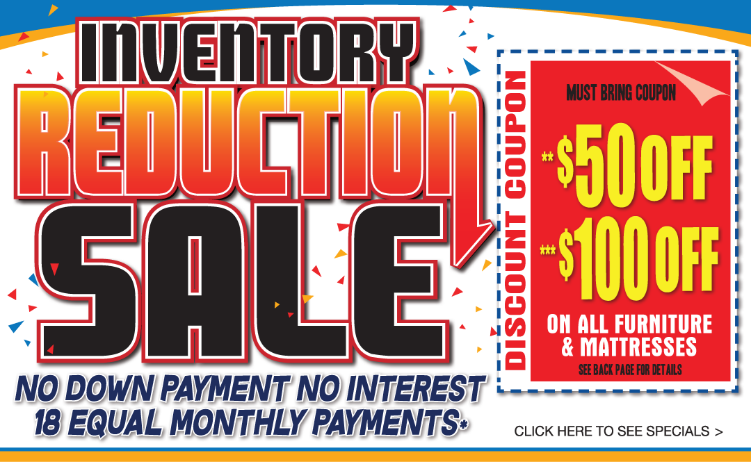 Inventory Reduction Sale January 2019 Banner
