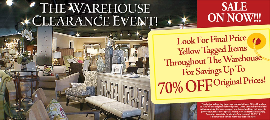 warehouse clearance up to 70% off