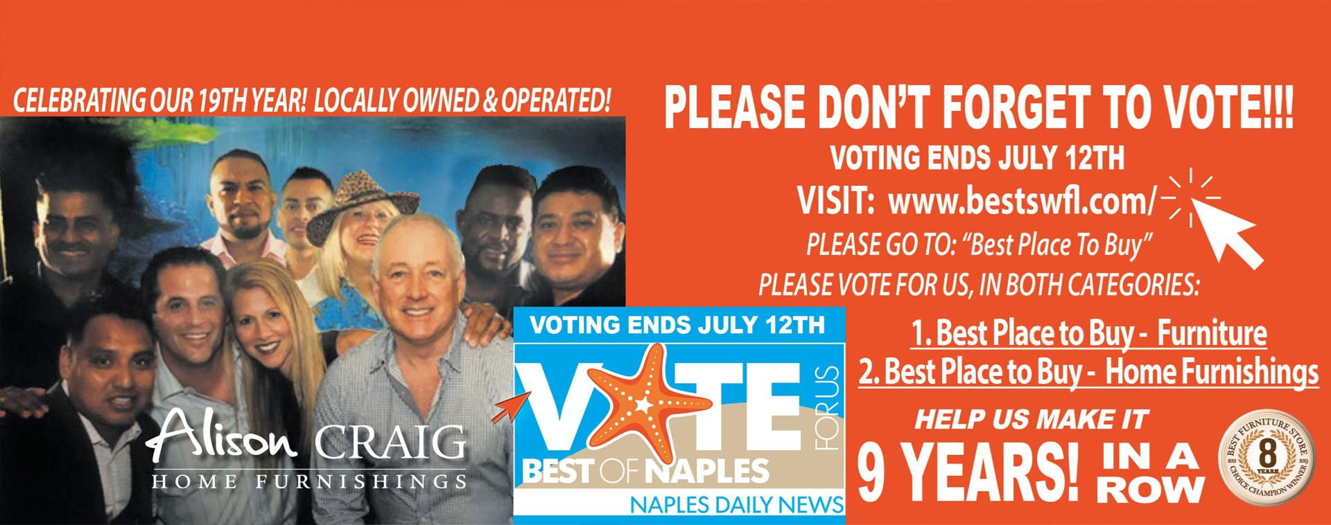 Vote For Us Best Of Naples