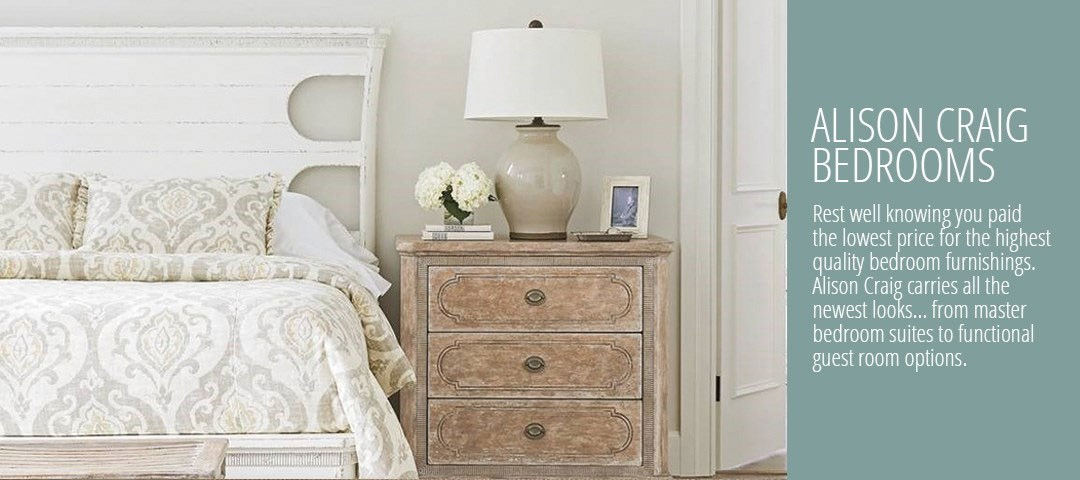 Bedroom furniture at Alison Craig