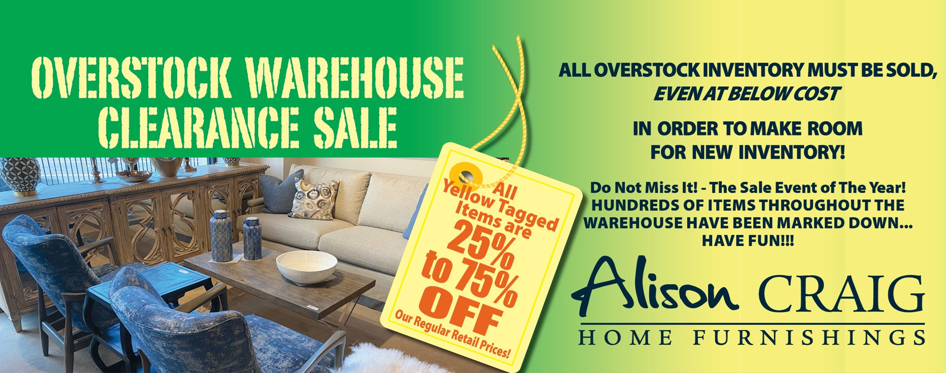 Overstock Clearance on NOW