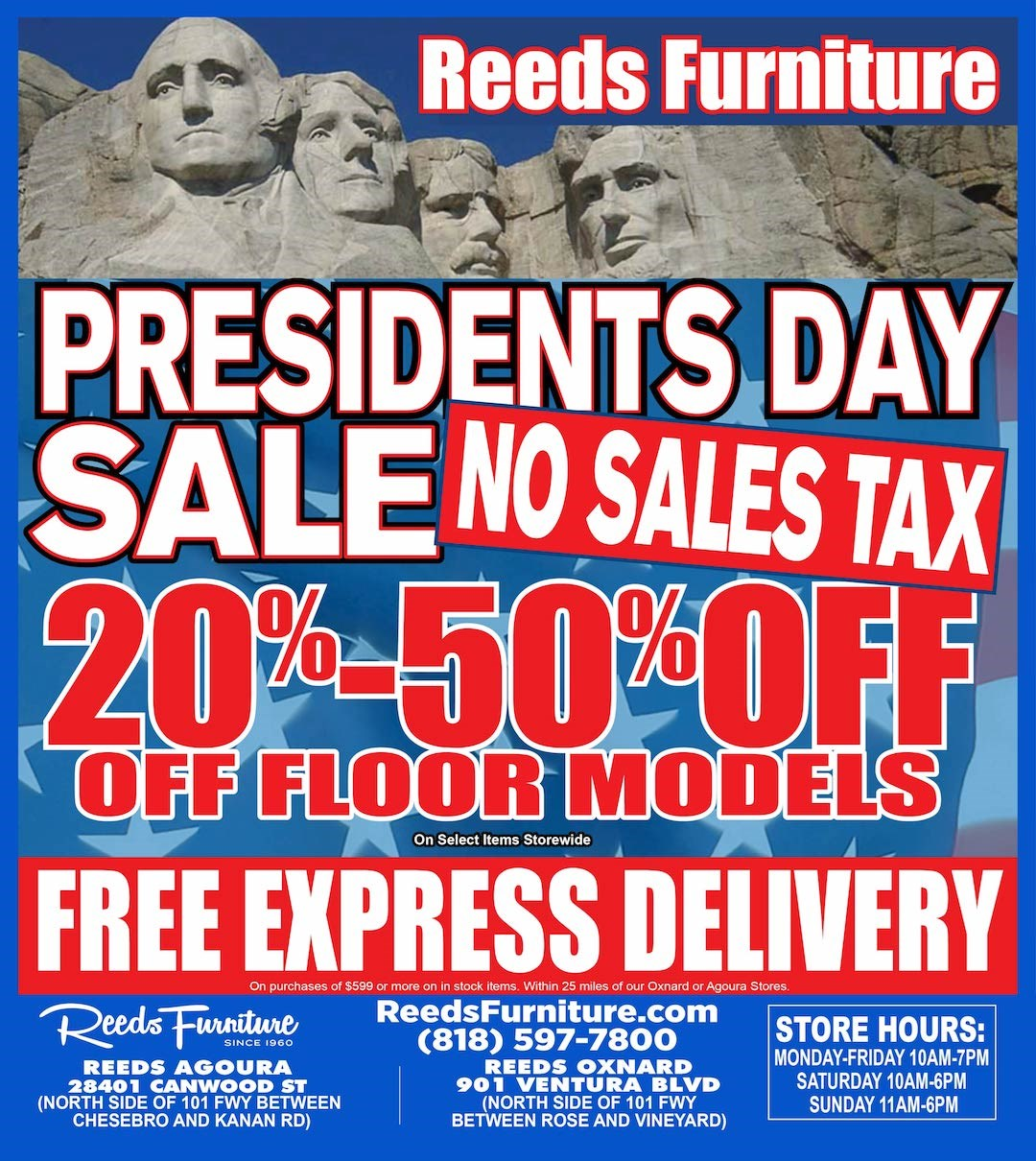 Presidents day ad