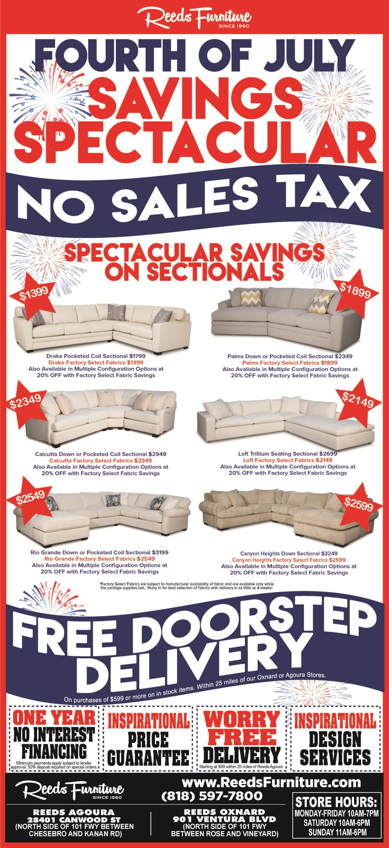 Reeds Furniture For The Best S And Deals On In Los Angeles Thousand Oaks Simi Valley Agoura Hills Oxnard Calabas Malibu