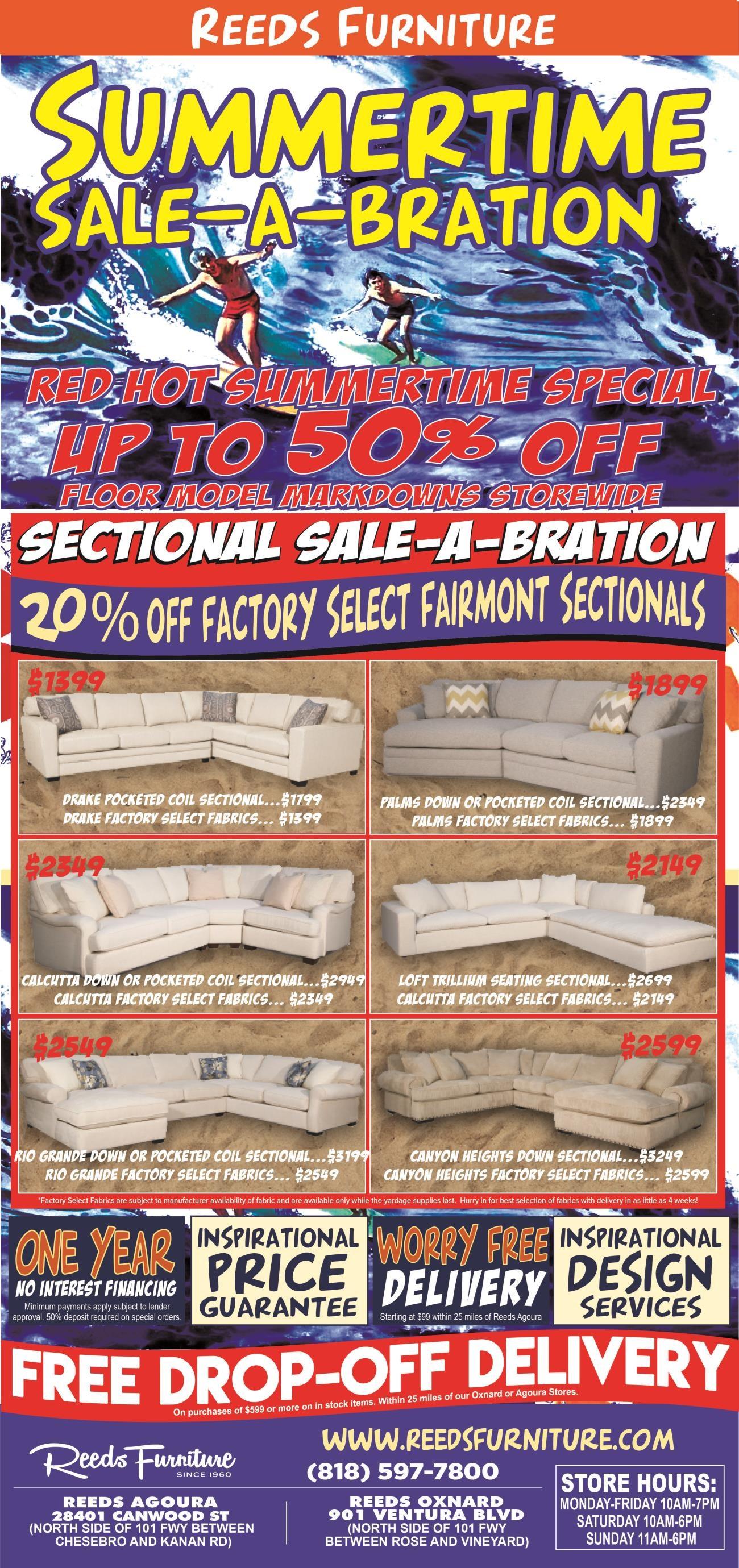 Reeds Furniture Summertime Sale-A-Bration