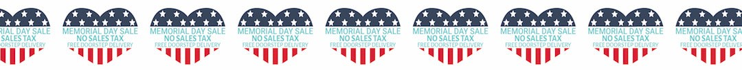 Memorial Day No Sales Tax & Free Doorstep d