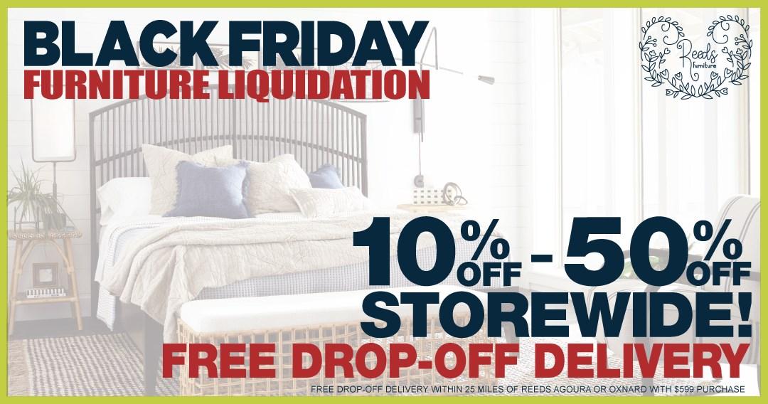 Reeds Black Friday Furniture Liquidation