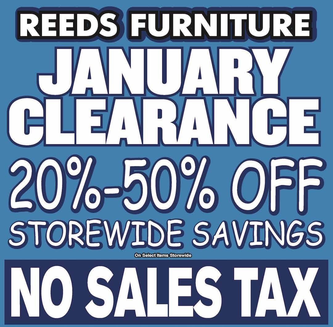 Reeds January Clearance