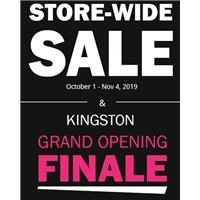 October Store-wide Sale & Kingston Grand Opening Finale