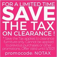 Save the tax on clearance