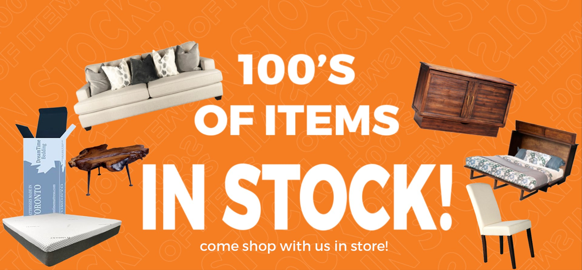 100's OF ITEMS IN STOCK
