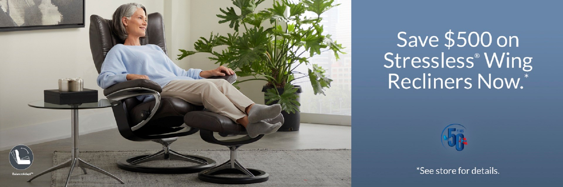 Save $500 on Stressless Wing Recliners Now