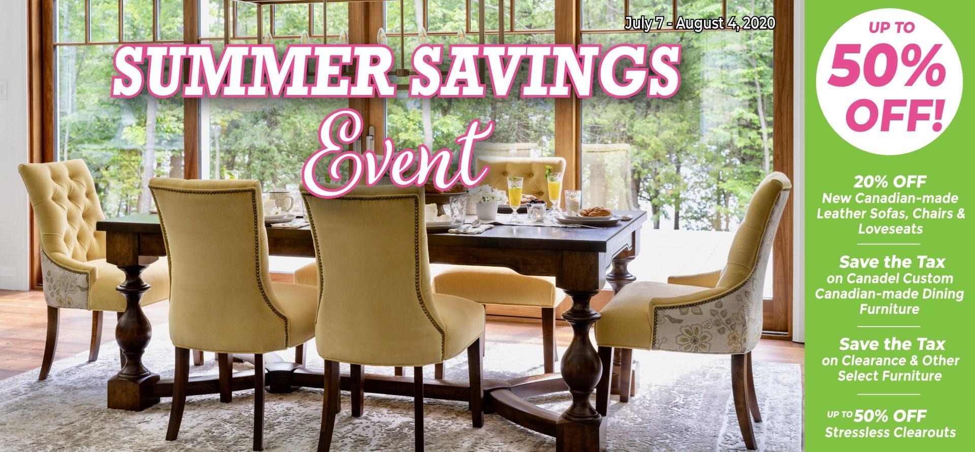Summer Savings Event!