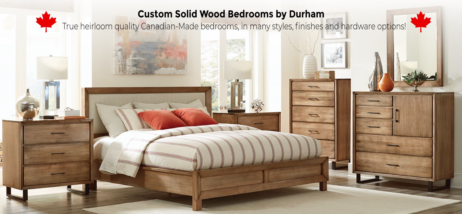 Custom Solid Wood Bedrooms by Durham - Canadian-made