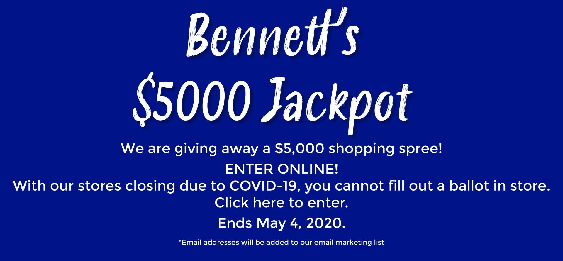 Bennett's $5000 Jackpot!