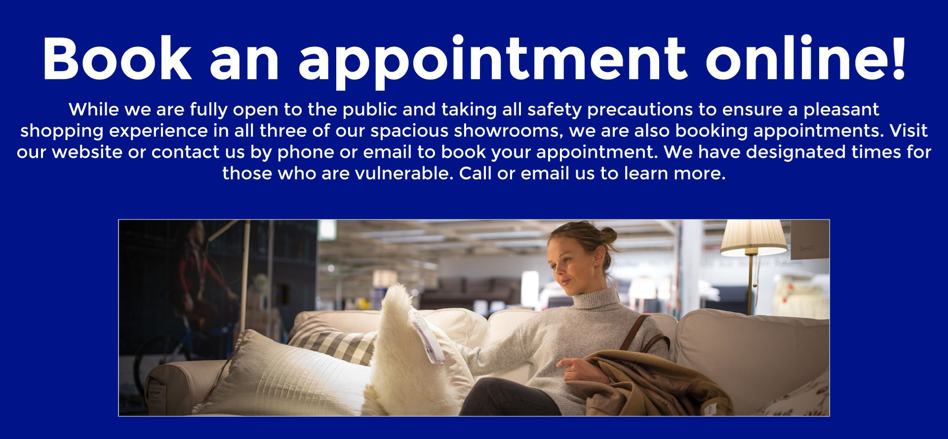 Book an Appointment Online!