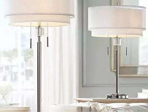 White Shaded Lamps