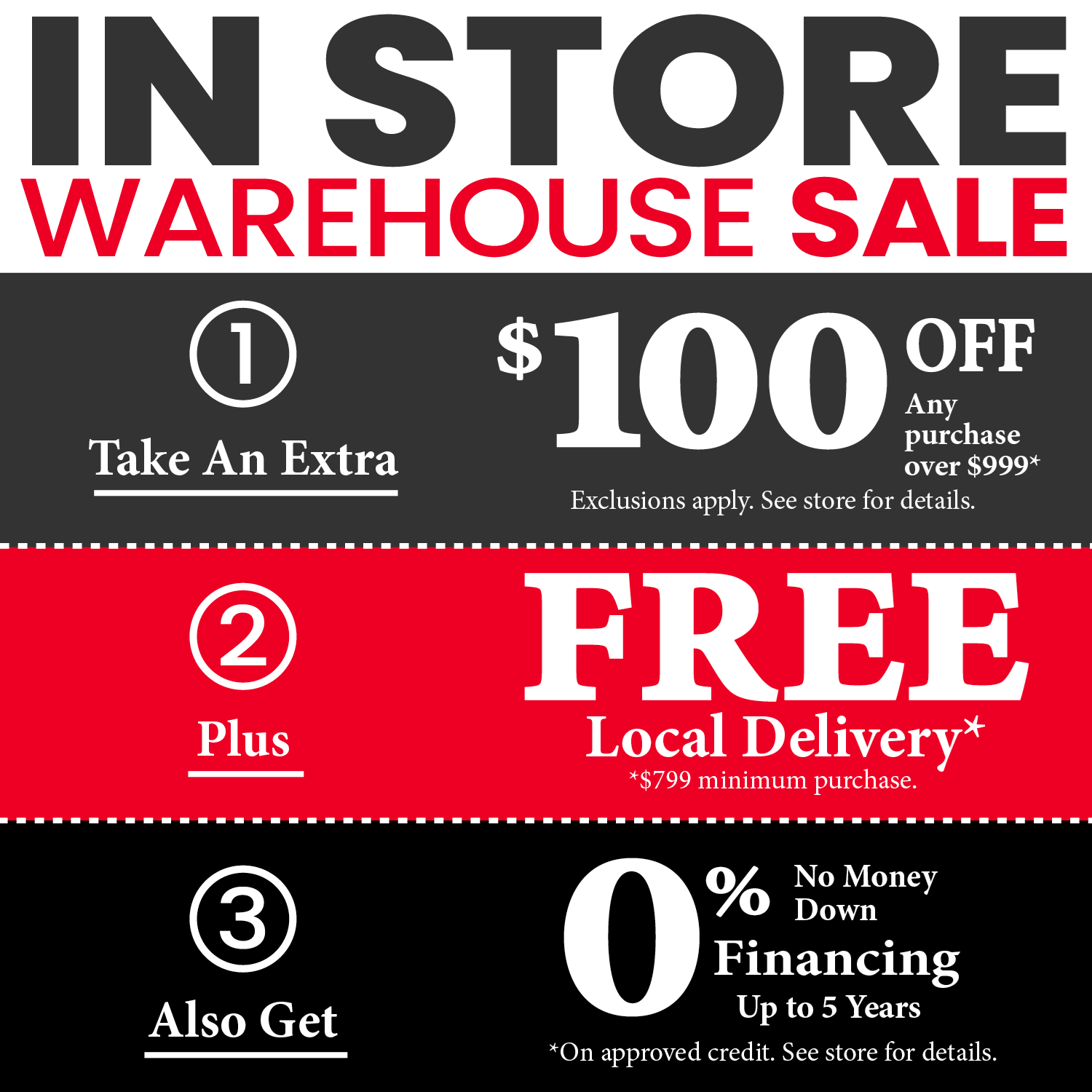 In Store Warehouse Sale