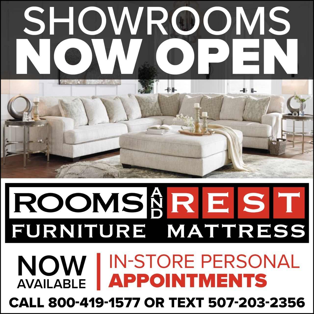Showrooms Now Open