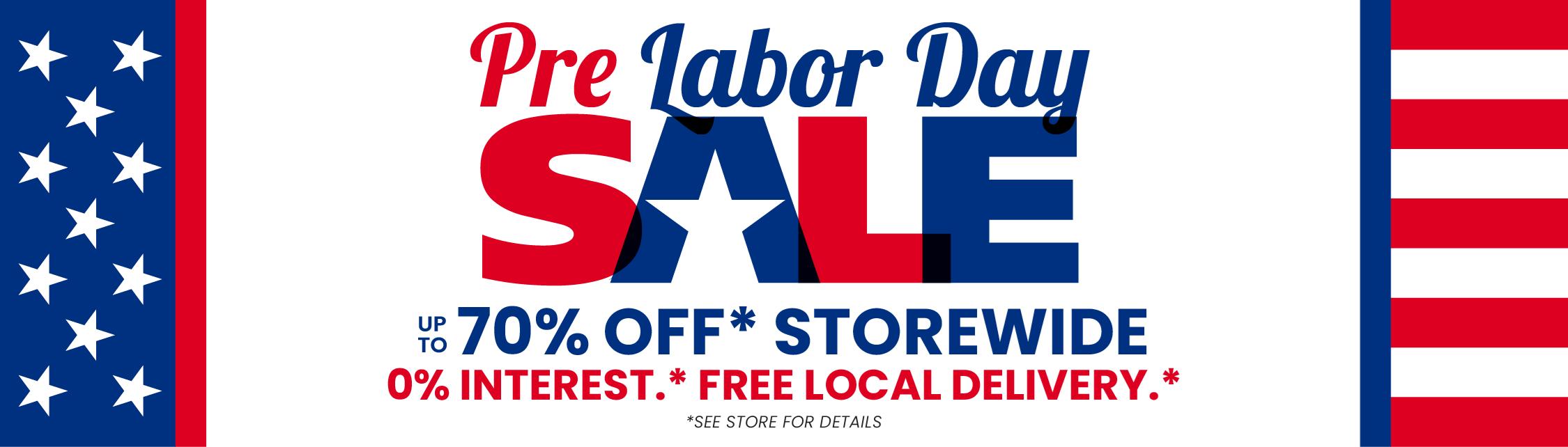Pre Labor Day Sale