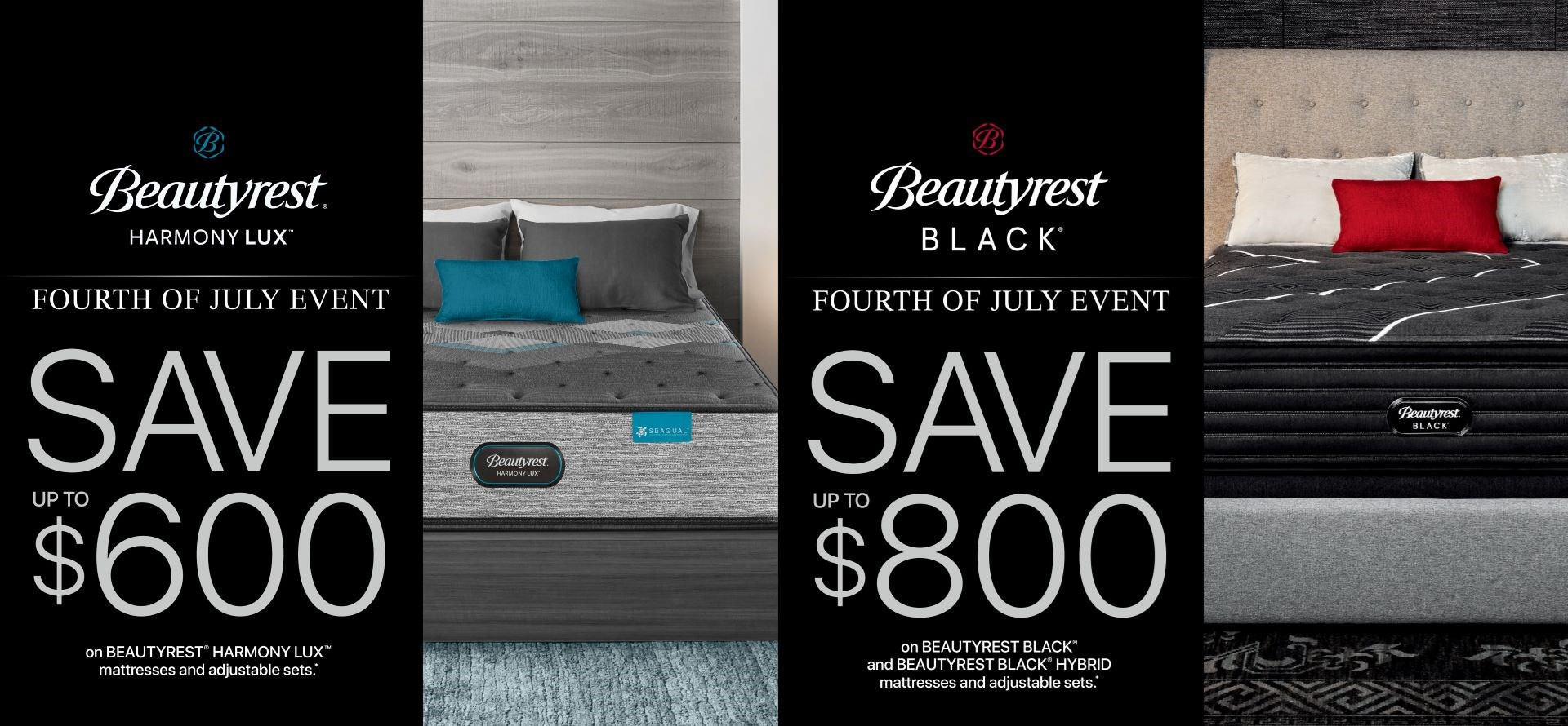 save 600 or 800 on select beautyrest