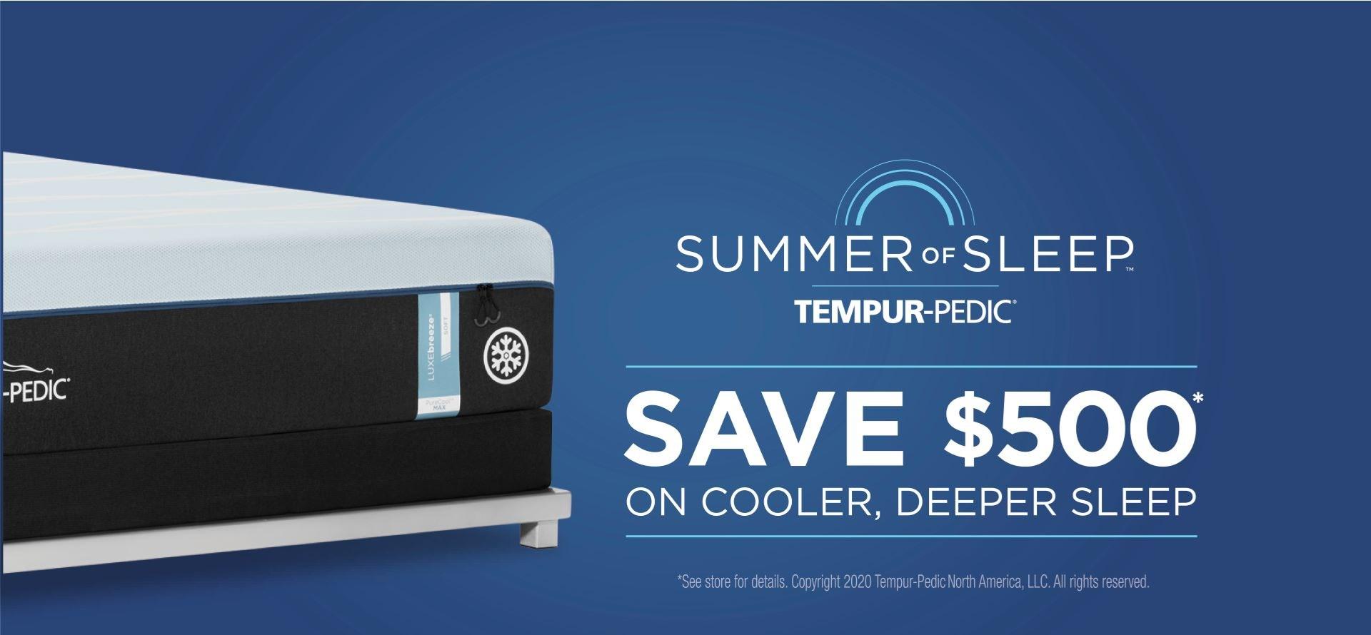 tempurpedic - save $500 on tempur-breeze mattresses