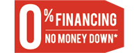 0% Fininacing No Money Down*