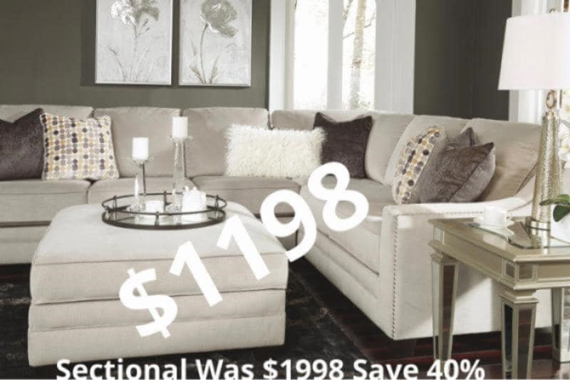 2 Piece Sectional with Nailhead Trim for $1,198