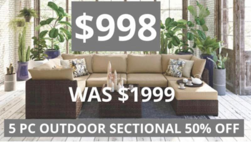 5 Pc Outdoor Sectional