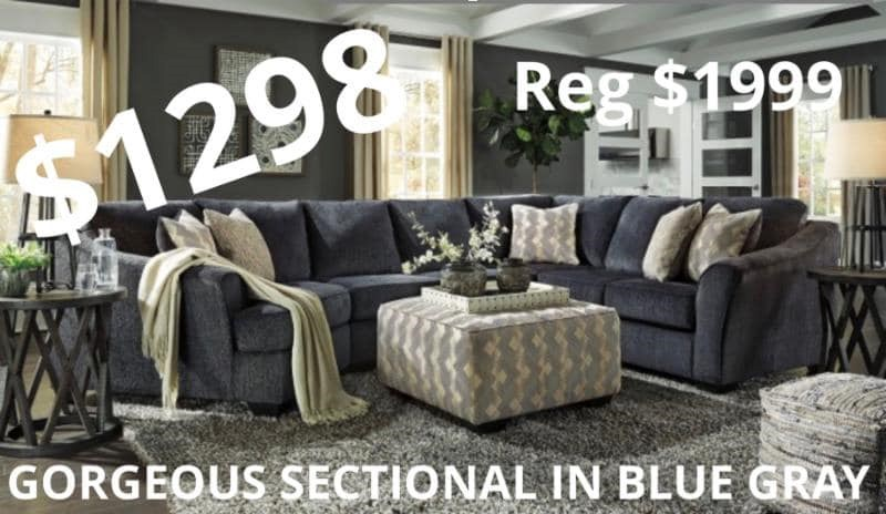 Blue/Grey Sectional- $1298