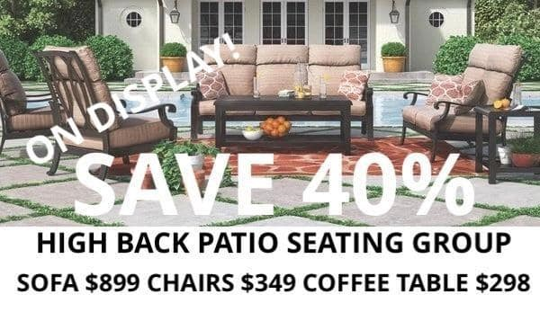 High Back Patio Seating Group