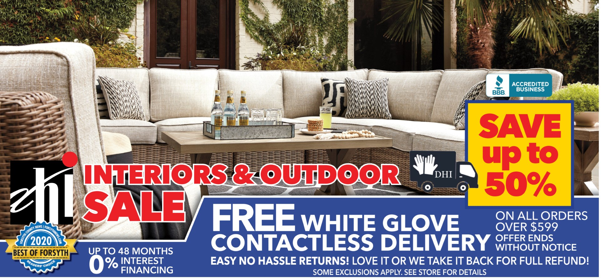 Interiors and outdoor sale