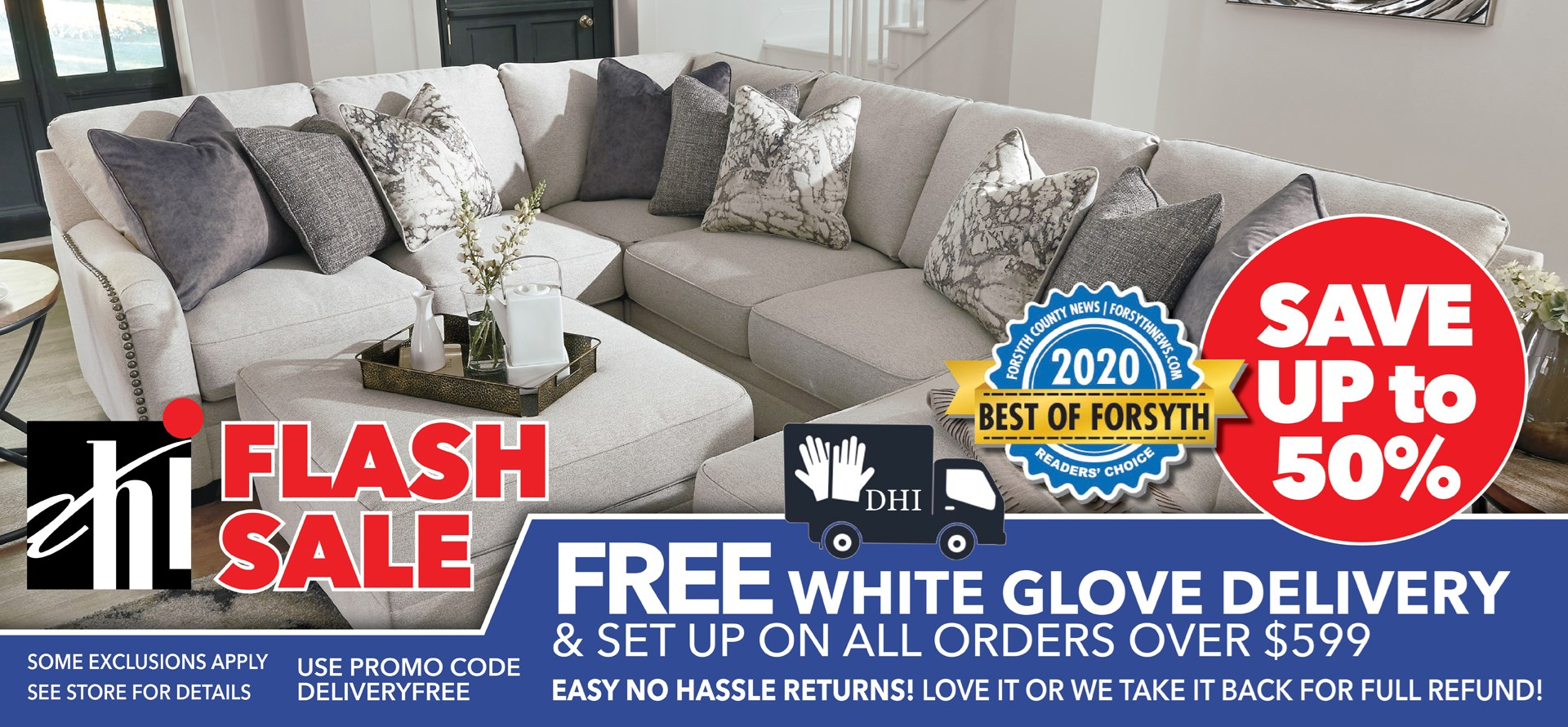 Flash sale free delivery 599
