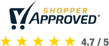 Shopper Approved 4.7 Stars out of 5