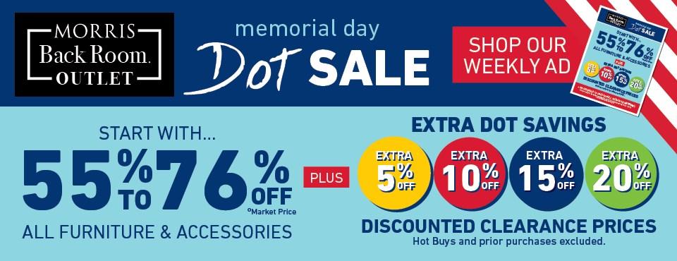Memorial Day Dot Sale