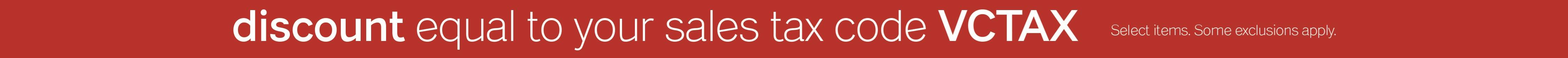 sales tax discount