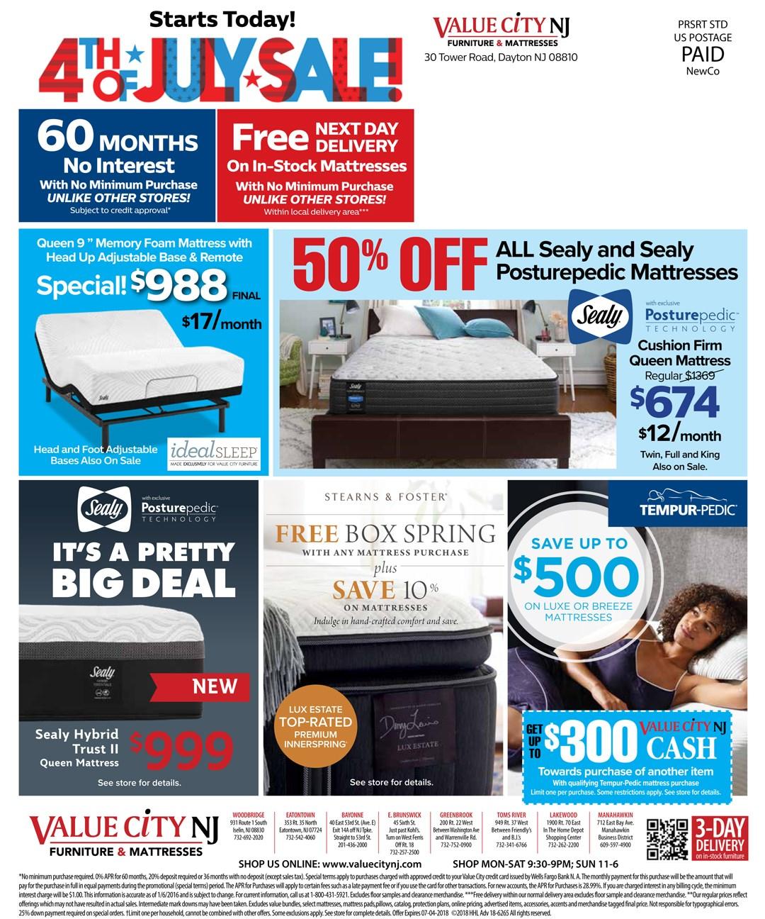 Value City NJ Online Promotions Circular