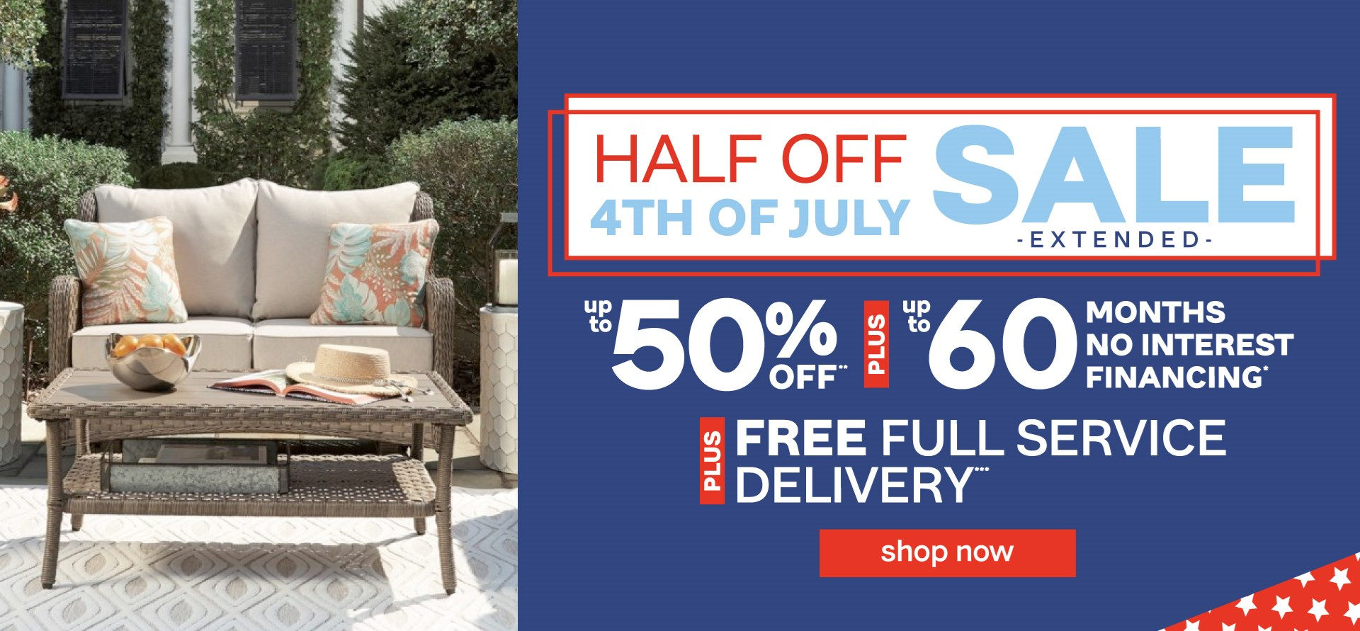 Half off 4th of July Sale Extended