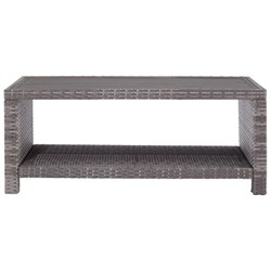 Grey woven occasional table