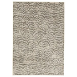 Grey rug with arch pattern