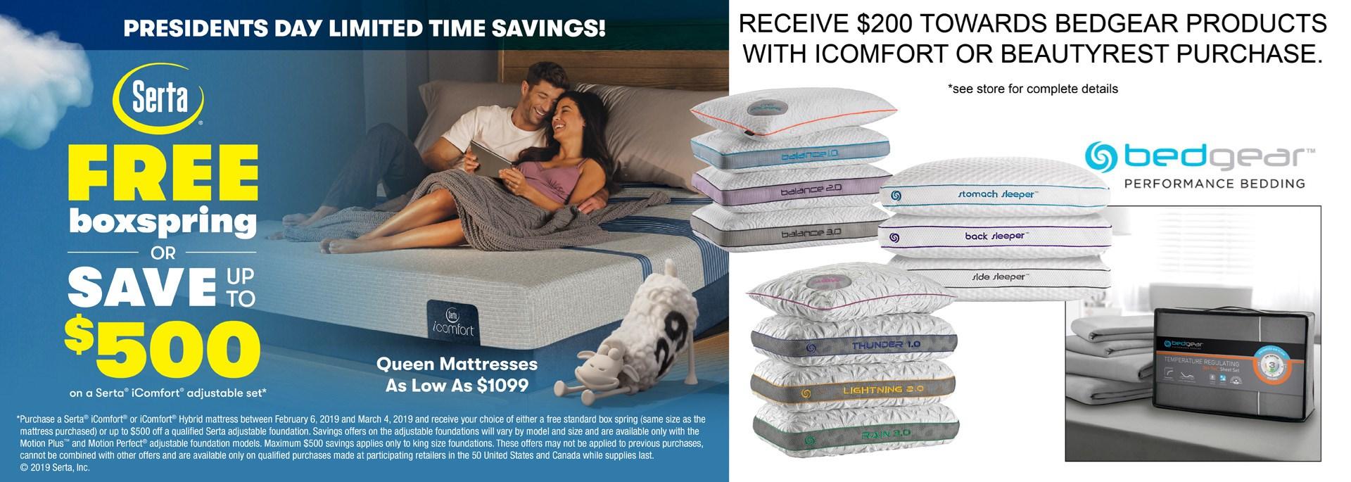 pres. day mattress