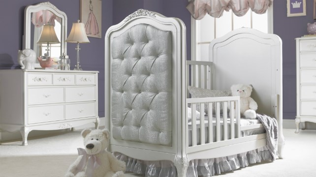 angelina upholstered crib