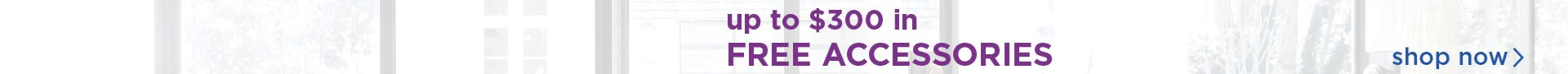 Get up to $300 in free accessories; see store for details.
