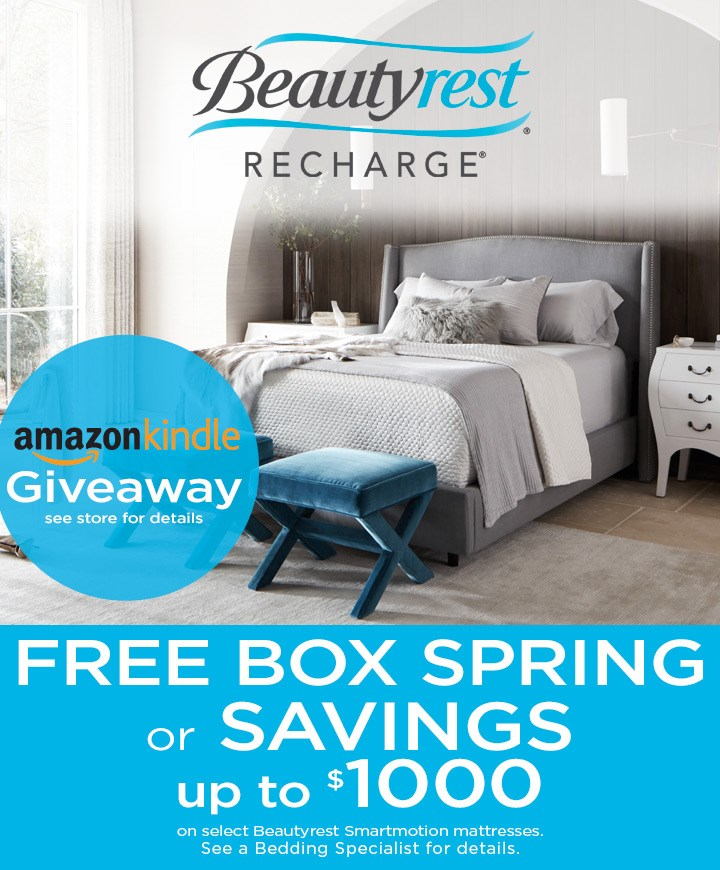 Free box spring or up to $1000 in savings; see store for details.