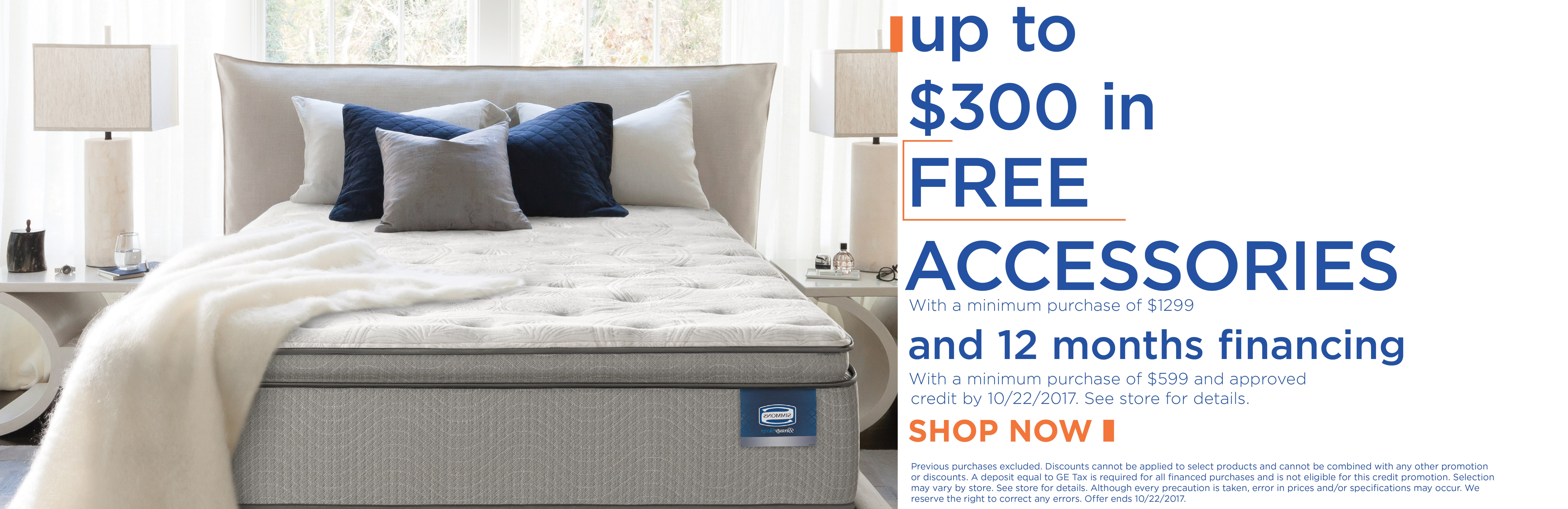 Get up to $300 in free accessories with minimum purchase of $1299; special financing available. See store for details.