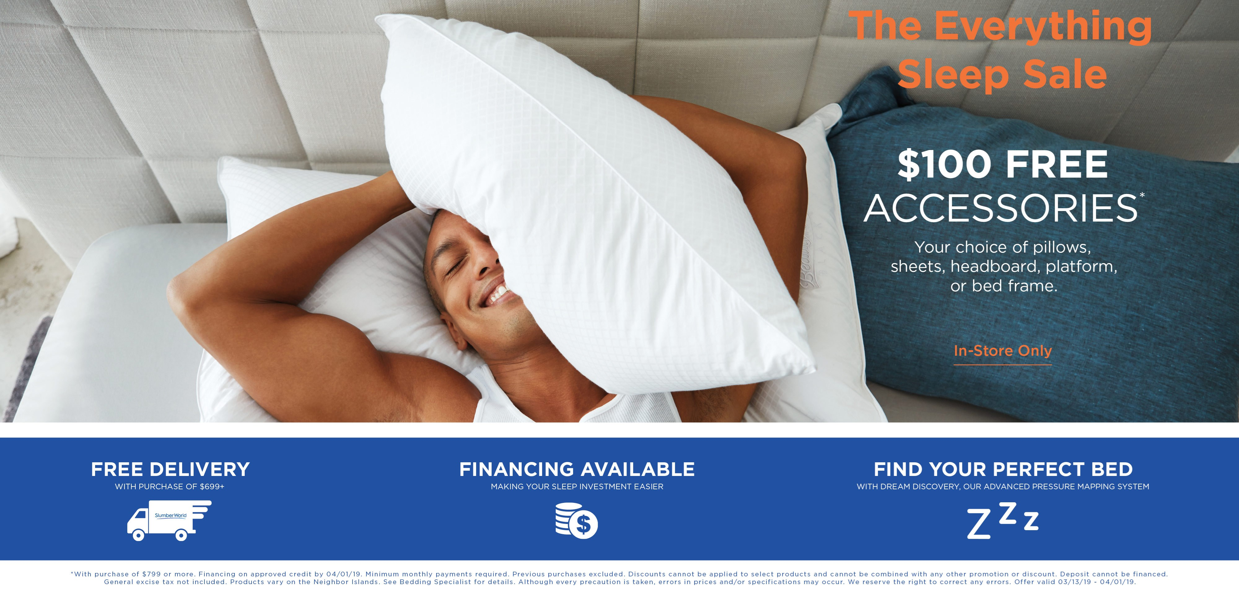 $100 free accessories; ask about financing. See store for details.