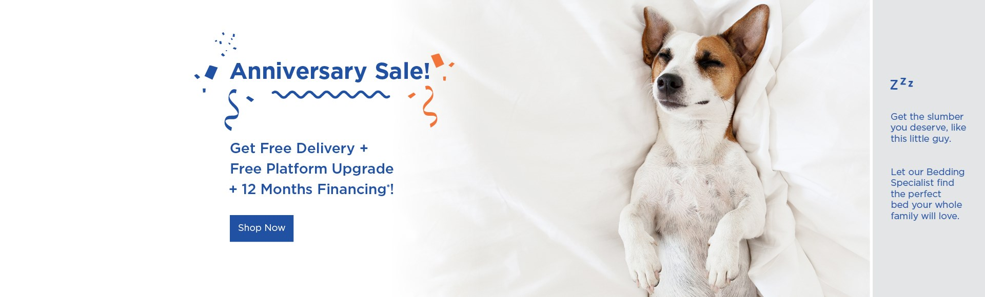 Free delivery, 12 months financing, and free platform upgrade. 10% off all daybeds and headboards. See stiore for details